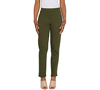 Susan Graver Regular Stretch Twill Pull-On Pants - A308243