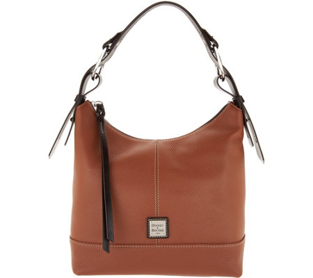"""As Is"" Dooney & Bourke Pebble Leather Hobo Handbag- Gracie"