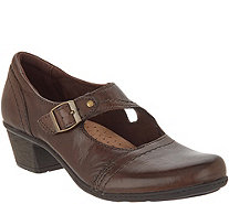 Earth Origins Leather Mary Janes with Buckle - Meredith - A311343