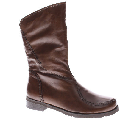 Spring Step Mid Calf Leather Boots - Inverno