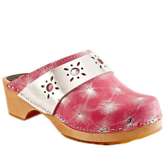 Cape Clogs Leather Clogs - Starburst