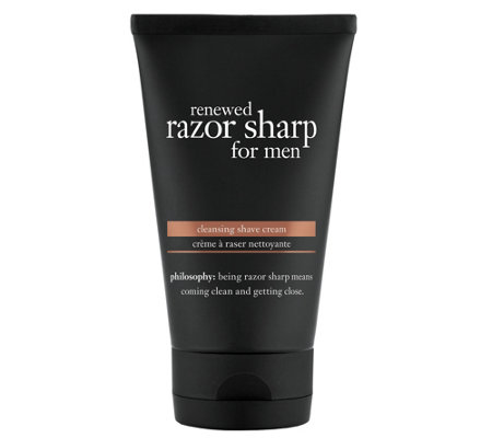 philosophy renewed razor sharp for men shavingcream, 5 oz