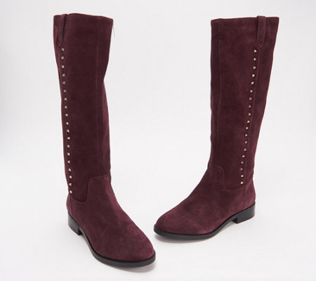 31129a89f1d Marc Fisher Wide Calf Leather Tall Shaft Boots - Secrit — QVC.com
