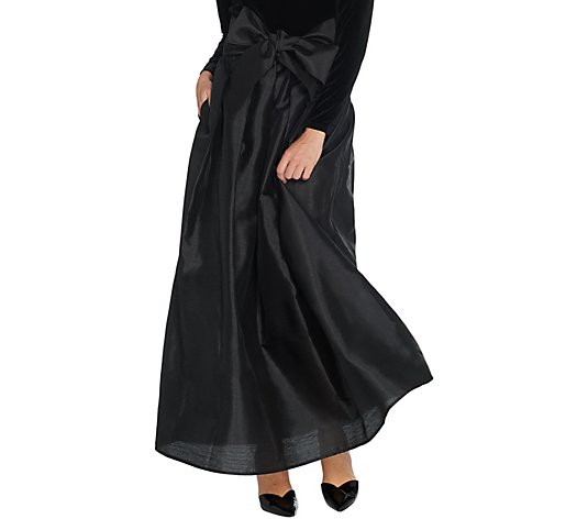 Joan Rivers Regular Length Faux Dupioni Maxi Skirt