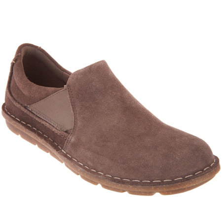 035a8f0e Clarks Collection Suede Slip-On Shoes - Tamitha Gwyn — QVC.com