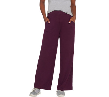 Denim Co Active Petite Heavenly Jersey Wide Leg Pants