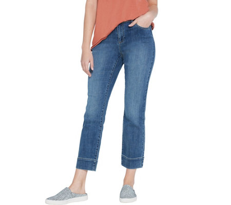 LOGO by Lori Goldstein Regular Straight Leg Ankle Jeans