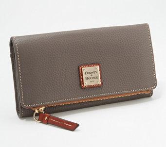 Dooney Bourke Pebble Leather Foldover Wallet A346043
