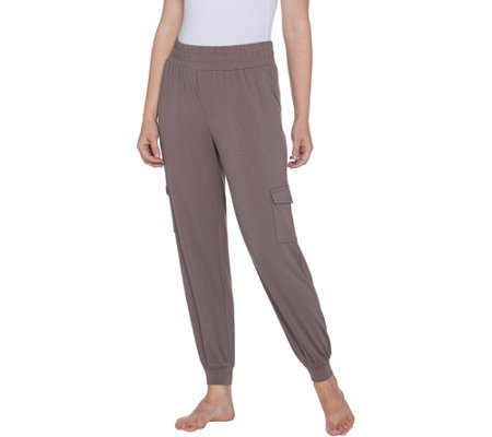 """As Is"" AnyBody Loungewear Cozy Knit Cargo Jogger Pants with Pockets"