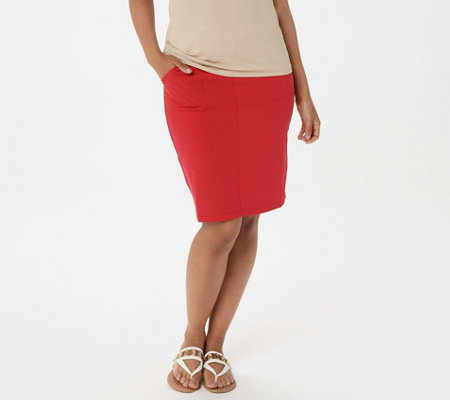 Susan Graver Weekend Premium Stretch Skirt with Pockets