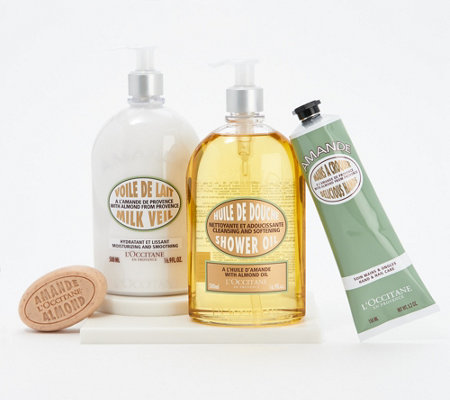 L Occitane Almond Shower 4 Piece Smooth Skin Collection
