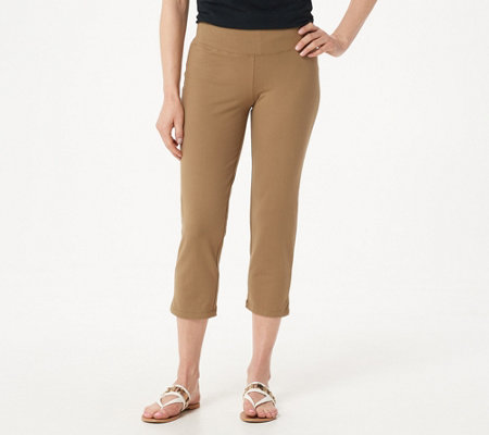 As Is Women With Control Petite Tushy Lifter Crop Pants