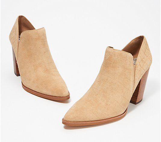 Vince Camuto Suede Slip-On Shooties - Cintella