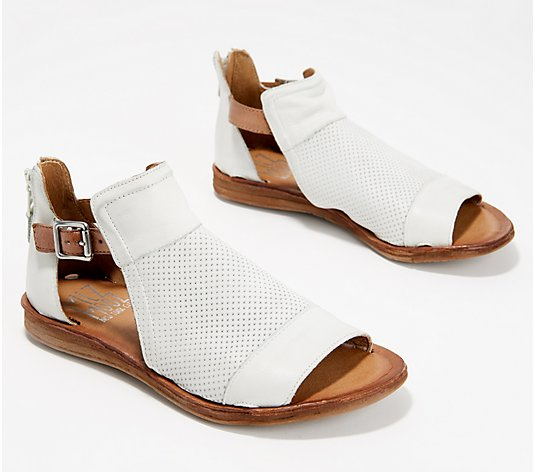 Miz Mooz Leather Wide Sandals - Fiona