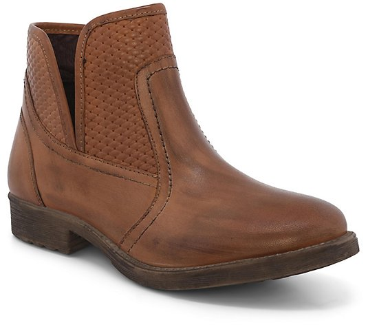 Roan Western Leather Booties - Gossip