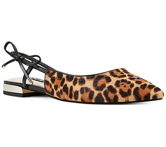Nine West Leopard Flats - Rosa