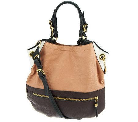 Oryany Pebble Leather Sydney Large Hobo Bag