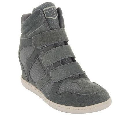 46b14167508b Skechers SKCH Plus 3 Hidden Wedge High-top Sneakers - Page 1 — QVC.com