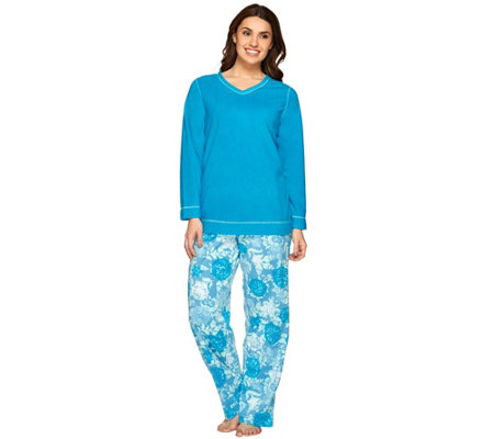 Stan Herman Petite Novelty Micro Fleece Pajama Set