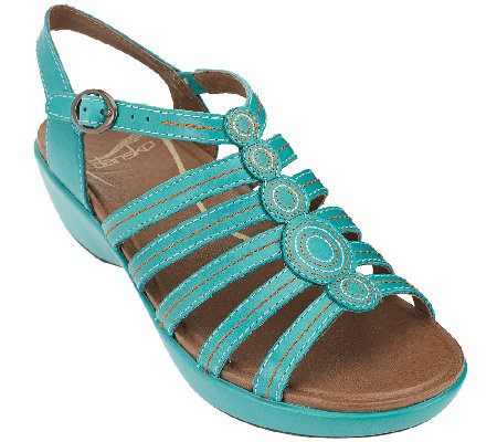 """As Is"" Dansko Multi Strap Sandals with Adjustable Strap - Drea"
