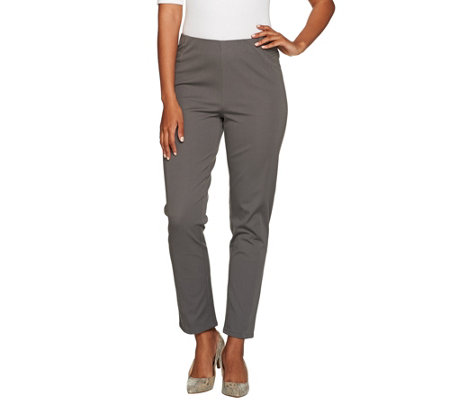 Isaac Mizrahi Live! Regular 24/7 Stretch Ankle Pants w/ Seams