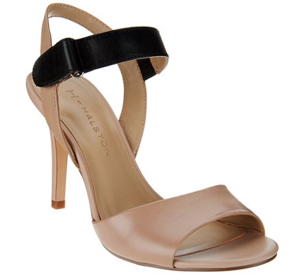 """As Is"" H by Halston Slingback Color -Block Leather Heel - Maya"