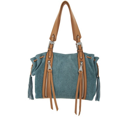 Aimee Kestenberg Pebble Leather Shoulder Bag- Avalon