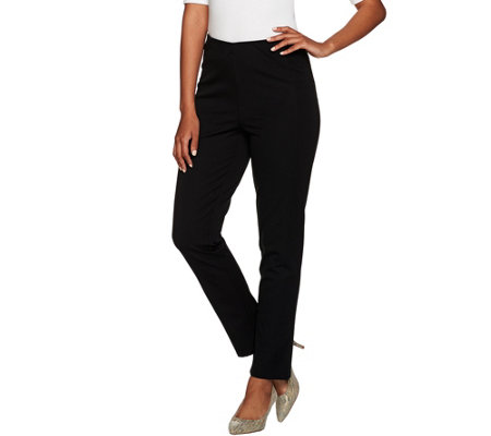 """As Is"" Isaac Mizrahi Live! Regular 24/7 Stretch Ankle Pants w/ Seams"