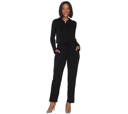 Attitudes by Renee Tall Como Jersey Cargo Jumpsuit