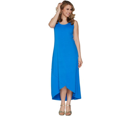 Isaac Mizrahi Live! Regular Hi-Low Tulip Hem Knit Dress