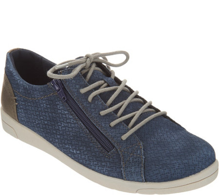 Earth Origins Lace-up Suede Sneakers - Cameron