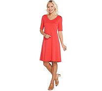 Isaac Mizrahi Live! Essentials Pima Cotton Dress - A306544