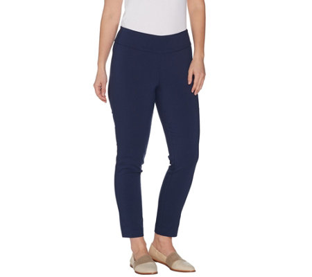 Martha Stewart Petite Stretch Twill Pull On Ankle Pants