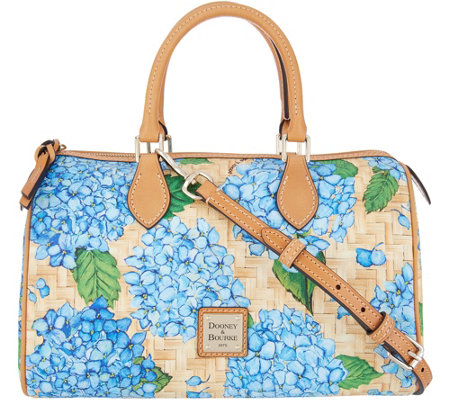 Dooney & Bourke Hydrangea Basketweave Classic Satchel Handbag