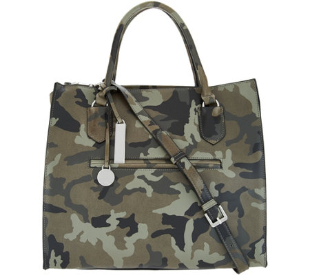 """As Is"" G.I.L.I. Leather Wing Camo Satchel"