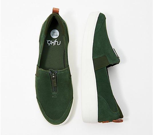 Ryka Stain Resistant Suede Slip-On Shoes - Vivvi