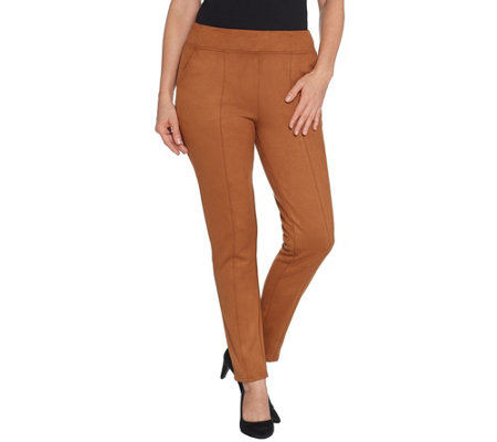 Linea By Louis Dell Olio Regular Faux Suede Pull On Pants