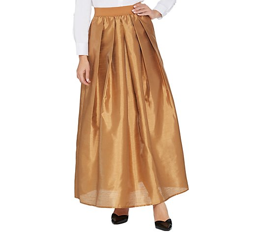 Joan Rivers Petite Length Faux Dupioni Maxi Skirt