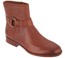 frye & co. Leather Side Zip Ankle Boots - Adelaide - A344744