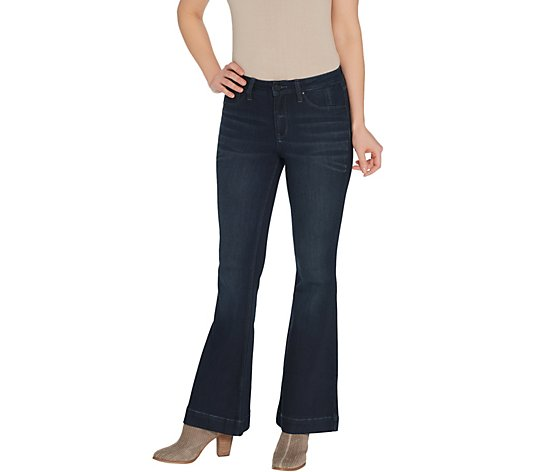 Laurie Felt Petite Silky Denim High-Heel Bell Zip Fly Jeans