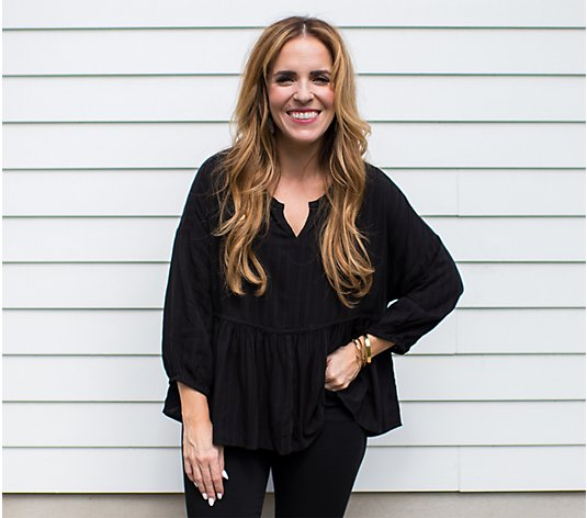 Rachel Hollis Ltd. Boho Peplum Top