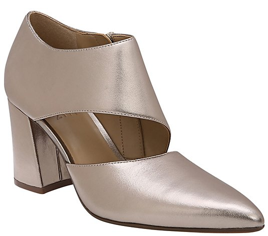Naturalizer Leather Block-Heel Shooties - Hoda