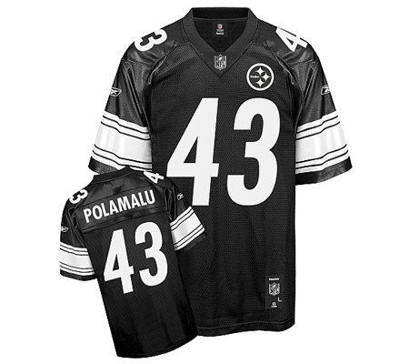 NFL Pitt Steelers Troy Polamalu Black Shadow Premier Jersey — QVC.com 1326aec5d