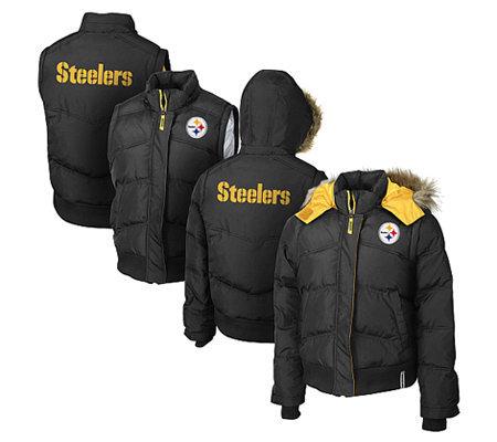 NFL Pittsburgh Steelers Women s 4-in-1 Fan Coat. product thumbnail. In Stock 45c4df939
