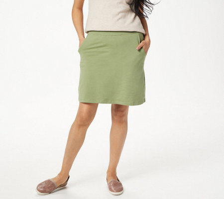 Denim & Co. Essentials Pull-On Knit Skort with Pockets