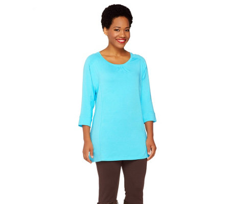 Denim & Co. Active 3/4 Dolman Sleeve Tunic