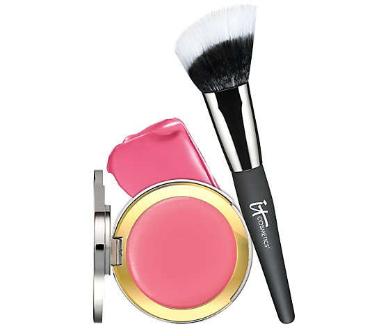IT Cosmetics CC Creme Blush with Angled Radiance Brush Auto-Delivery