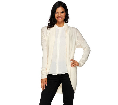 H by Halston Shawl Collar Long Sleeve Cocoon Sweater Cardigan