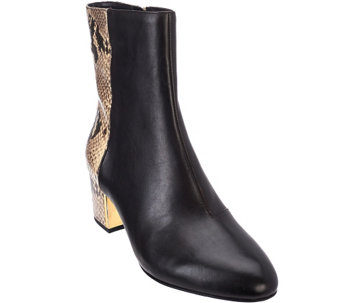 Judith Ripka Quilted Leather Wedge Ankle Boots - Everly good selling for sale OFaCLlp