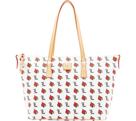 Dooney & Bourke NCAA University of Louisville Zip Top Shopper